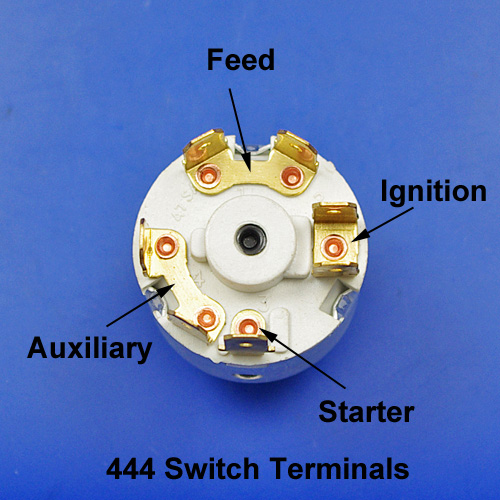 6 Terminal Ignition Starter Switch With 2 Keys For Manual Guide