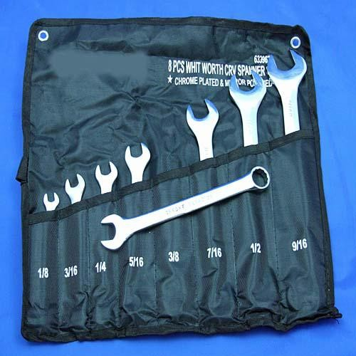 spanner set BSW whitworth size - 8 piece