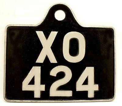 cast aluminium number plate