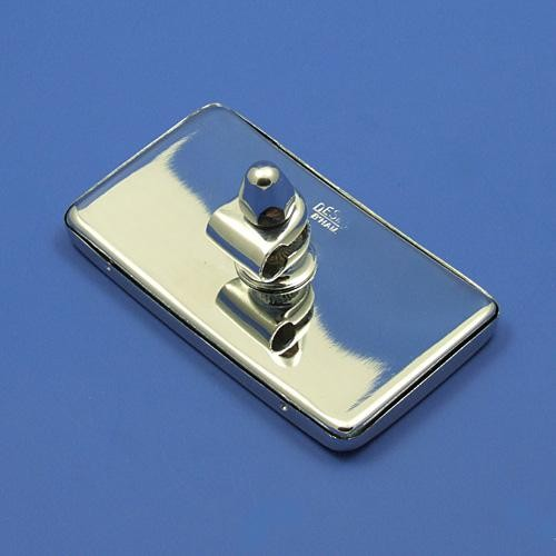 rectangular rear view mirror - chrome