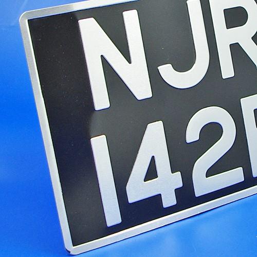 vehicle number plate - pressed