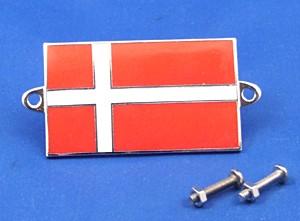 enamel nationality flag badge / plaque Denmark