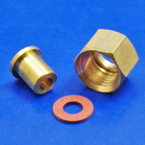 oil pressure pipe end fitting - 990-1/8 oil pressure pipe end fitting