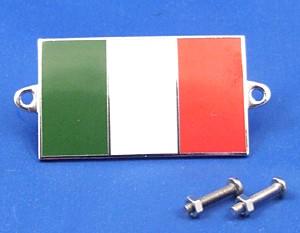 enamel nationality flag badge / plaque Italy
