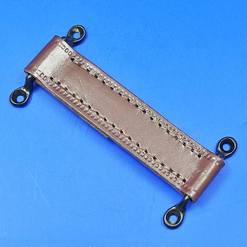 door check retainer strap  - brown 150mm long with black staples