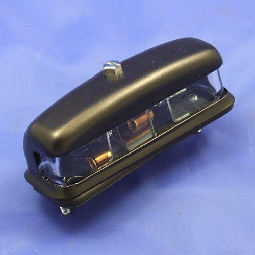 number plate lamp type L467 - black on brass cover