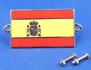 enamel nationality flag badge / plaque Spain