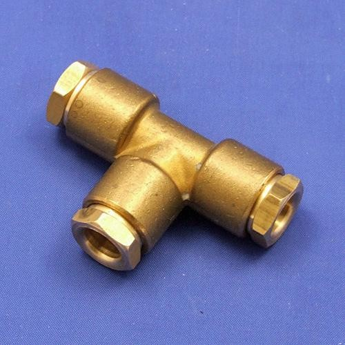 Ca c compression tee pipe fittings taps