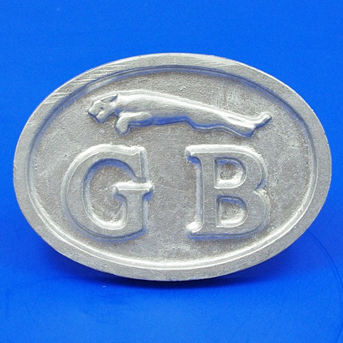 cast GB plate with jaguar