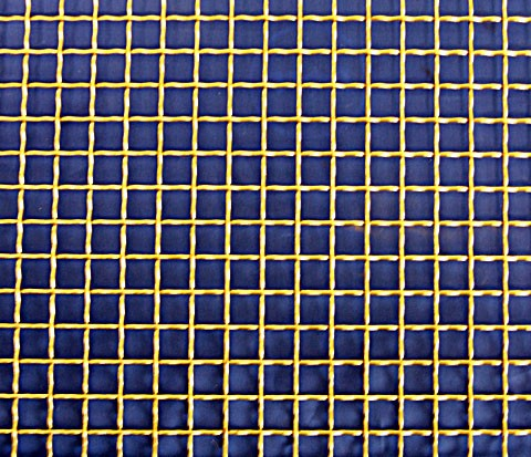 brass wire mesh - square format