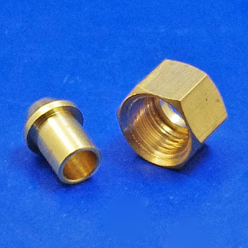 solder type nut and nipple - 441 1/8 BSP for 3/16 pipe