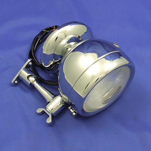 Raydyot type spot lamp with rear view mirror