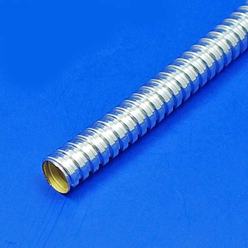 metal conduit sleeving - plated - 8mm bore chrome