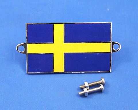 enamel nationality flag badge / plaque Sweden