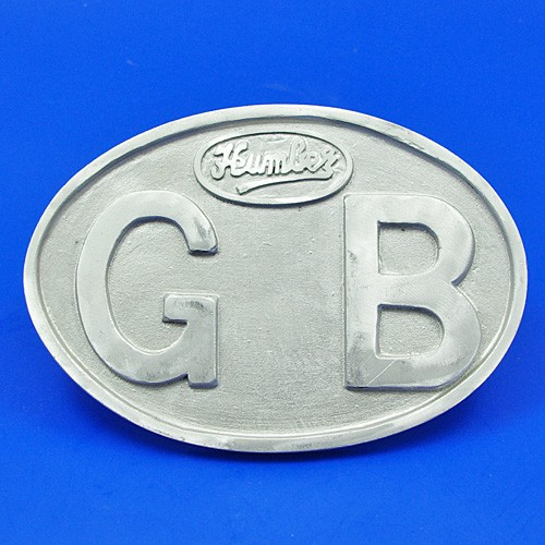 cast GB plate marked Humber