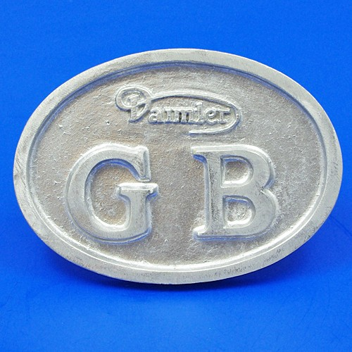 cast GB plate with Daimler