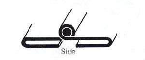 bonnet hinge - folded type - side hinge only
