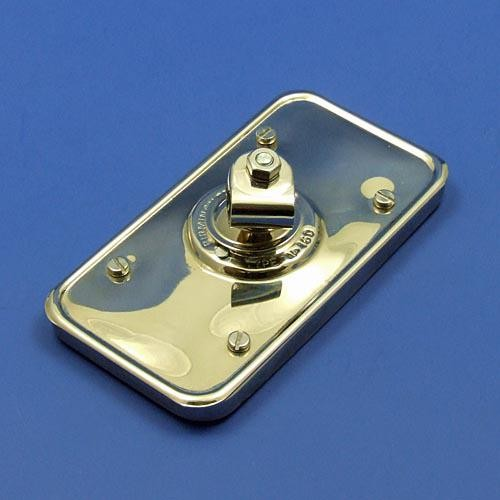 Lucas style type 160 mirror - nickel plated