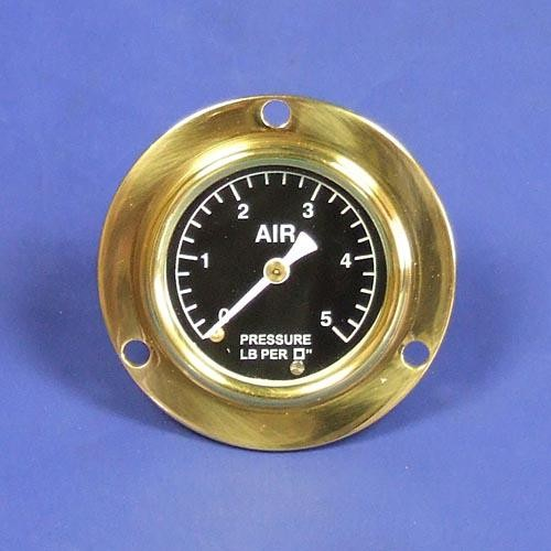air pressure gauge - calibrated 0-5lb/sq in