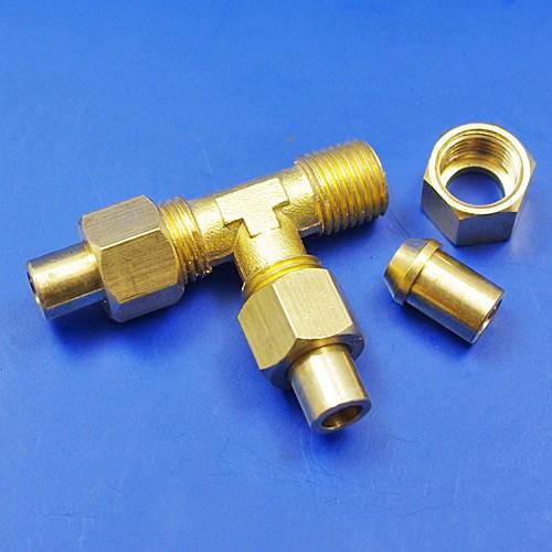 solder nut type tee piece - 1/4BSP for 1/4 pipe