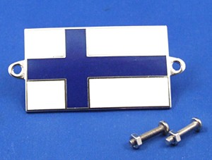 enamel nationality flag badge / plaque Finland