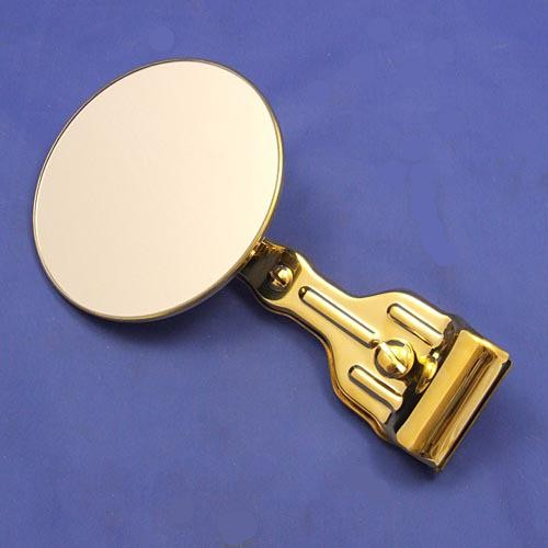 round rear view mirror  - brass