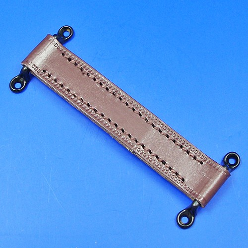 door check retainer strap  - brown 190mm long with black staples