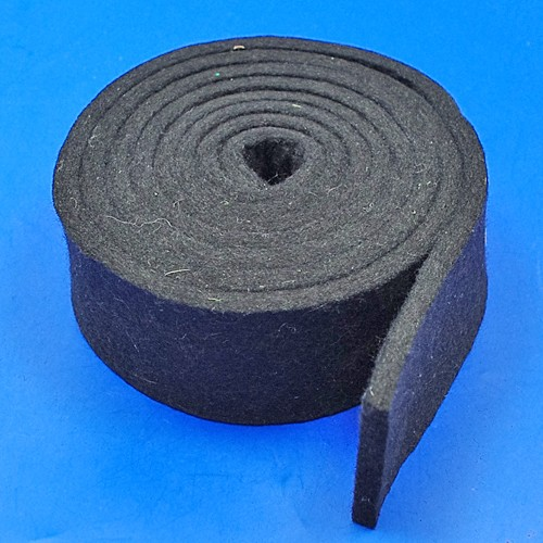 black felt strip - 50mm x 6mm