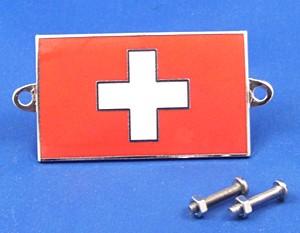 enamel nationality flag badge / plaque Switzerland