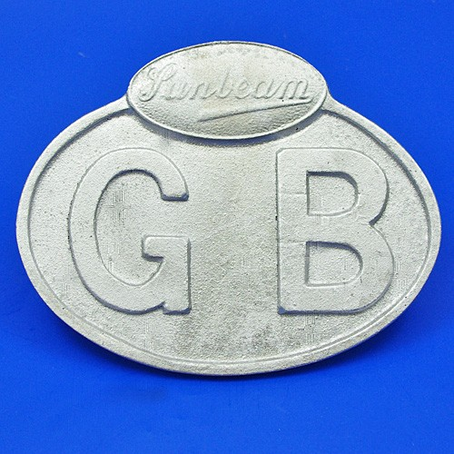 cast GB plate marked Sunbeam