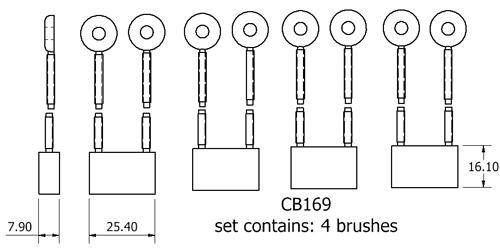 dynamo and starter brush sets - CB169 starter brush set
