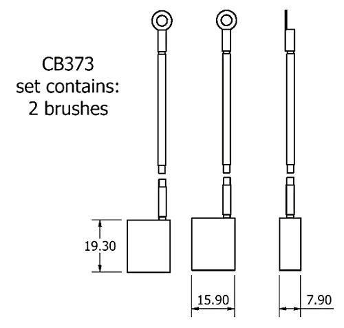 dynamo and starter brush sets - CB373 dynamo brush set