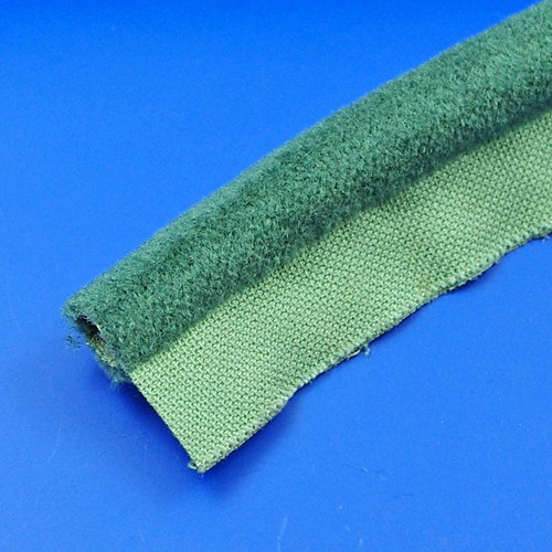 furflex draught excluder - 242 suede green