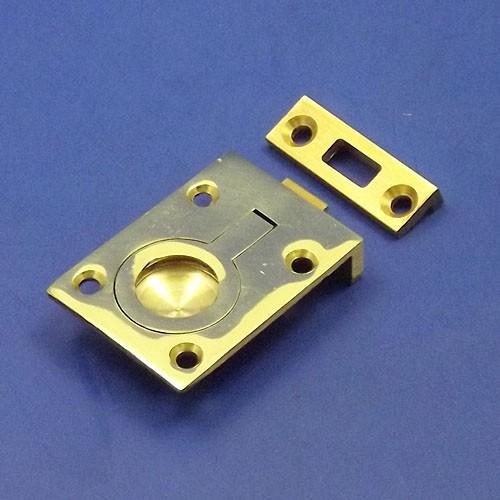 flush floor lifting ring - brass 50mm x 38mm