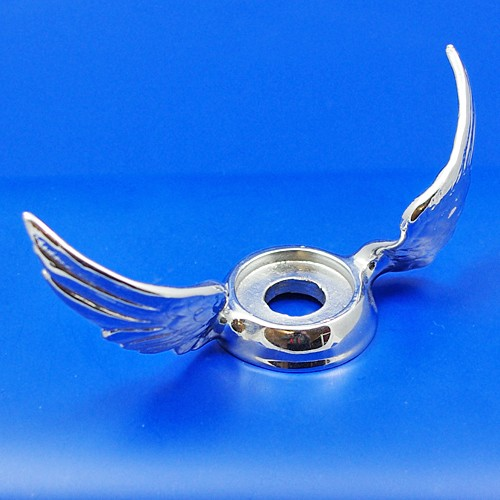 calormeter wings - raised curved wings - chrome