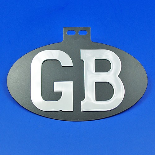 GB oval plaque (top mount)