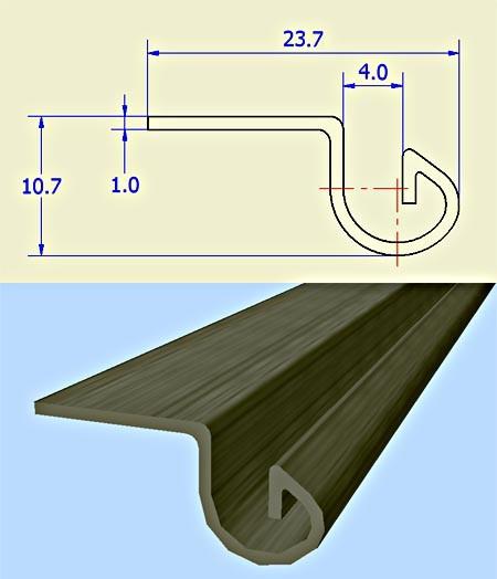 folded side strip flange