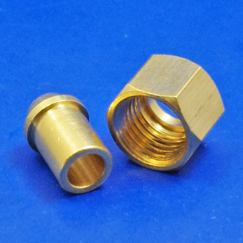 solder type nut and nipple - 353 1/4 BSP for 1/4 pipe