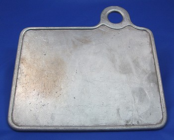 cast aluminium number plate backplate square with lamp bracket
