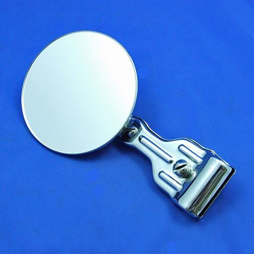 round rear view mirror  - chrome