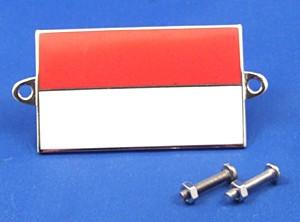 enamel nationality flag badge / plaque Monaco