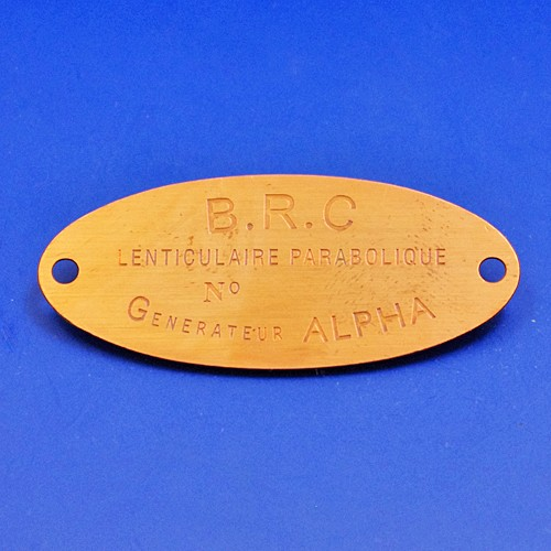 BRC lamp plaque