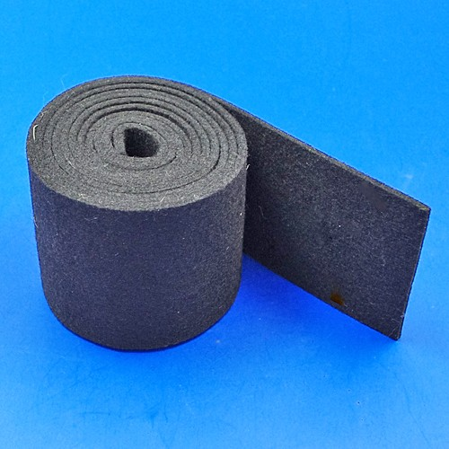 black felt strip - 75mm x 3mm