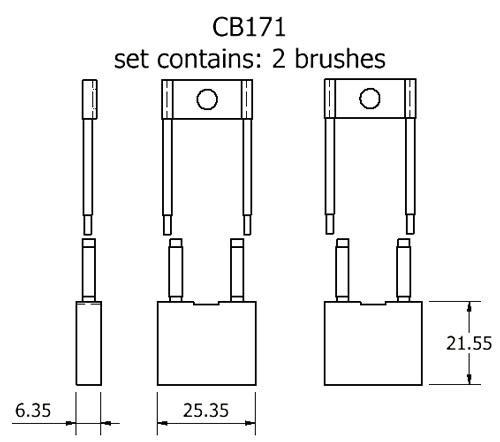 dynamo and starter brush sets - CB171 starter brush set