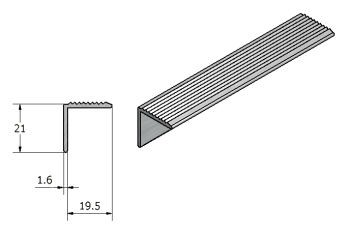 aluminium strip fluted angle