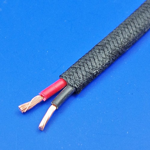 cotton braid cable - twin 16 amp capacity