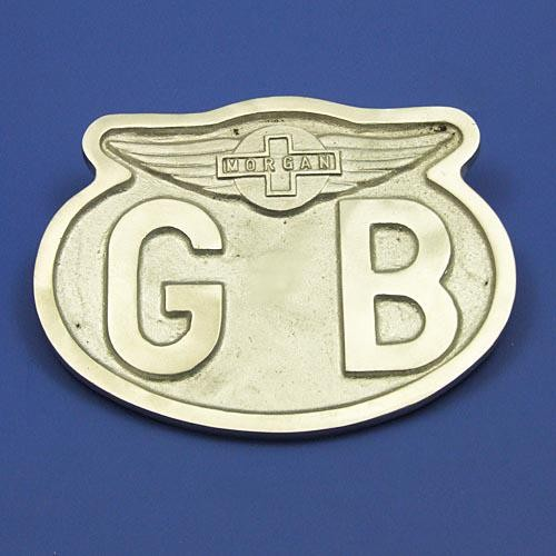 cast oval GB plate with Morgan wings