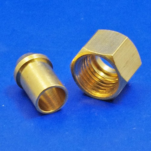 solder type nut and nipple - 354 1/4 BSP for 5/16 pipe