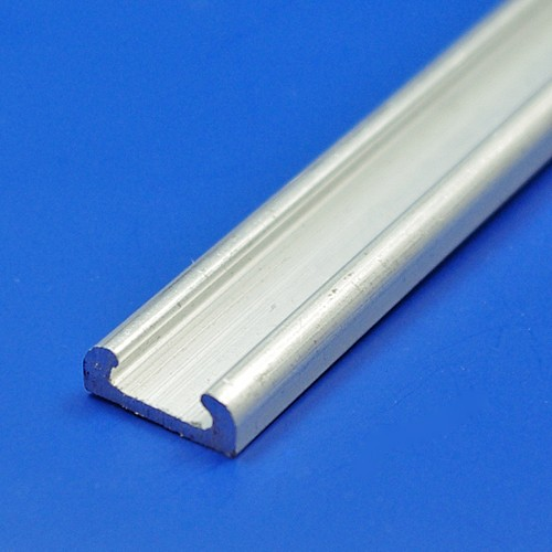 16mm aluminium strip and rounded rubber insert - aluminium strip only