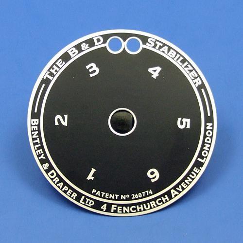 Bentley & Draper large indicator dial